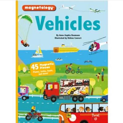Vehicles Magnetology 交通工具磁鐵遊戲書