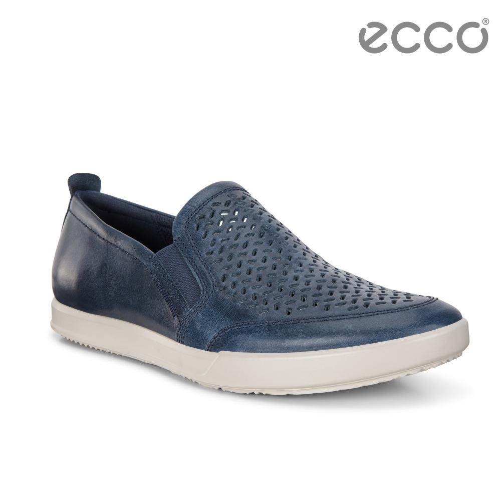ECCO COLLIN 2.0 時尚透氣套入式休閒鞋 男-經典藍