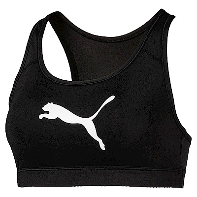 PUMA-女性訓練系列跳豹中衝擊運動內衣-黑色-歐規