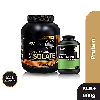 [美國 ON]金牌ISOLATE分離乳清蛋白(5磅)+肌酸600公克