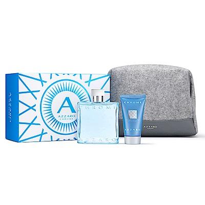 AZZARO 海洋鉻元素春季香氛禮盒(淡香水100ml+洗髮沐浴膠50ml+盥洗包)