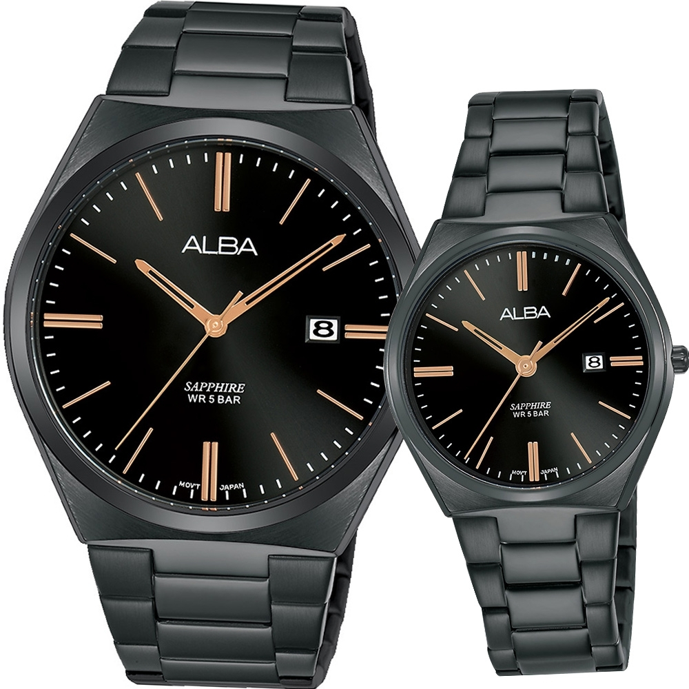 ALBA 美好時刻時尚對錶(AS9J59X1+AH7T35X1)