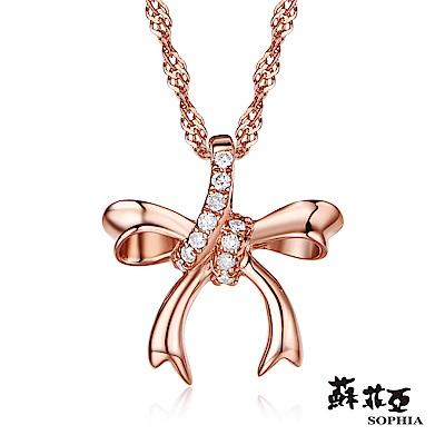 蘇菲亞 SOPHIA - 愛戀時光0.06克拉玫瑰金鑽石項鍊