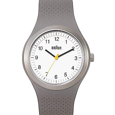 BRAUN德國百靈 經典設計 防水運動錶 -白色/45mm