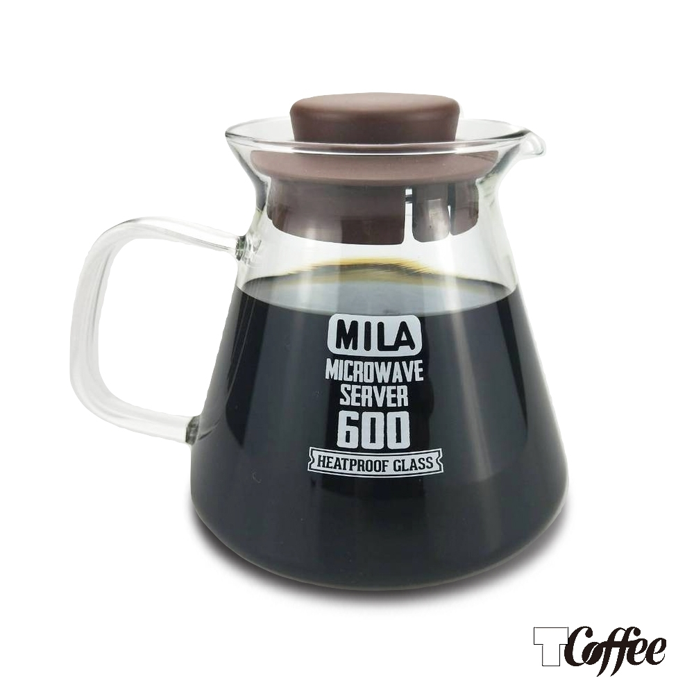 TCoffee MILA-棕色耐熱玻璃壺600ml