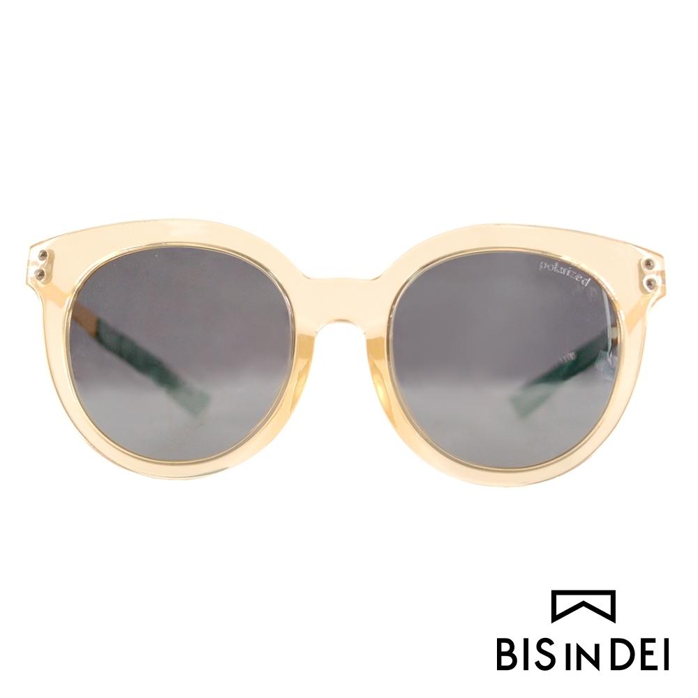 BIS IN DEI 微高調復古圓框太陽眼鏡-透明黃