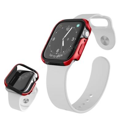 刀鋒Edge系列 Apple Watch Series 6/SE (44mm) 鋁合金雙料保護殼 保護邊框(野性紅)