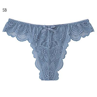 aimerfeel 高雅蕾絲性感丁字褲-珍珠藍-603723-SB