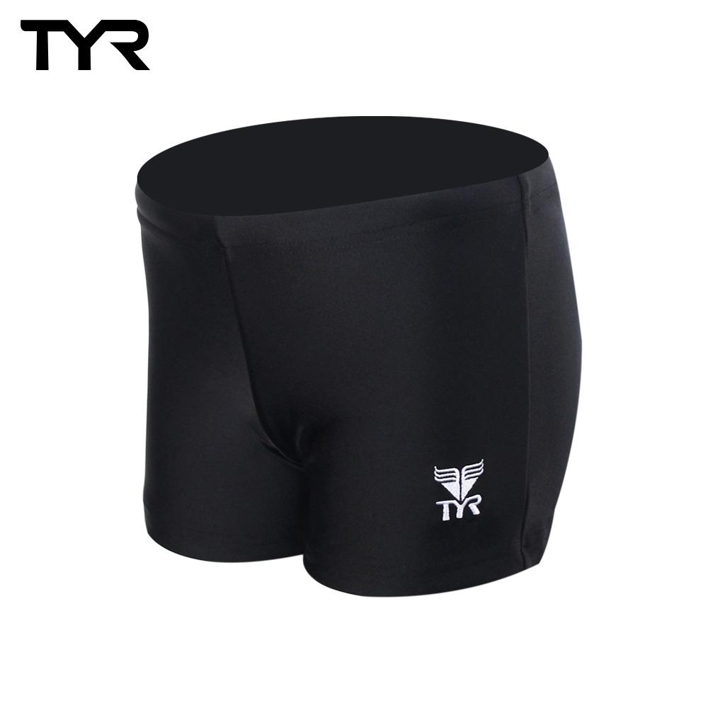 美國TYR 兒童四角黑色訓練款泳褲 Solid Boxer Trunk