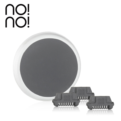 no!no! 藍光熱力刀頭組(寬刀頭x3+潔膚墊Lx1)