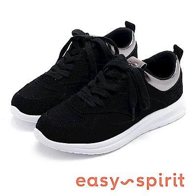 Easy Spirit evSPHYNX 麂皮網布柔軟休閒鞋-黑色