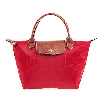 Longchamp Le Pliage 短把摺疊水餃包 (小/紅色)