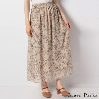 Green Parks 柔和花卉圖案長裙