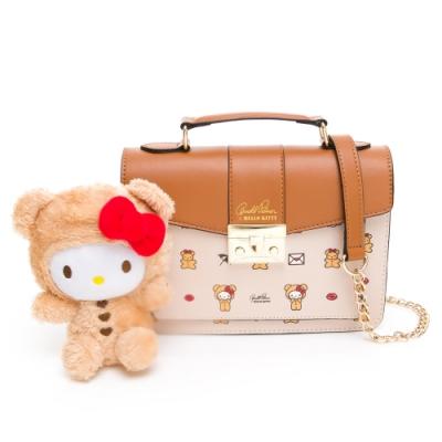 Hello Kitty聯名- 翻蓋書包 SPOIL / 熊愛你系列-咖色