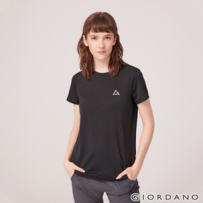 GIORDANO 女裝G-MOTION反光LOGO運動T恤-09 標誌黑