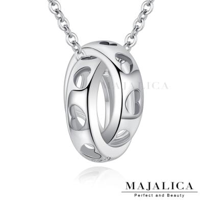 Majalica雙環細緻鎖骨鍊925純銀項鍊女短鍊 愛循環 銀色 單個價格(MIT)