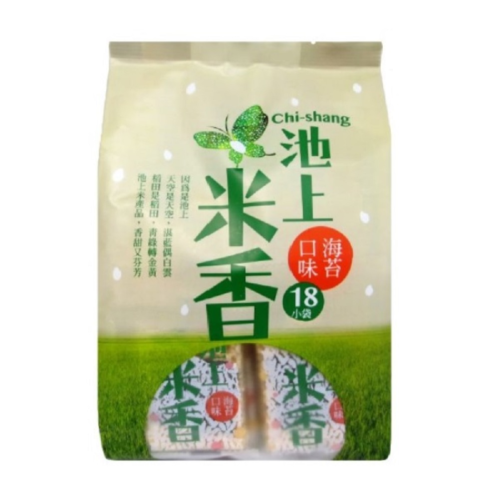 池上鄉農會 池上米香-海苔口味(180g/包)