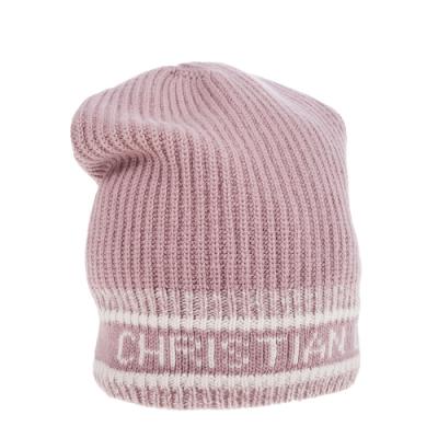 DIOR 新款D-WHITE Christian Dior大寫字母粉紅羊毛帽