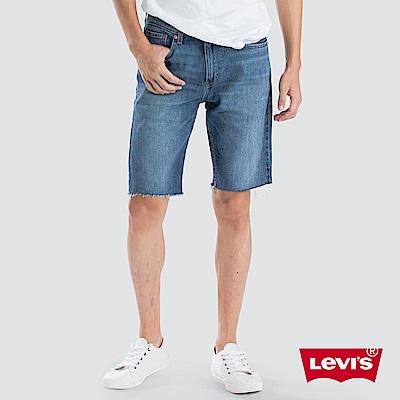 Levis男款牛仔短褲505修身直筒版型褲管不收邊彈性布料