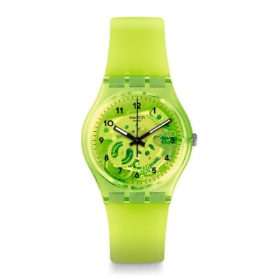 Swatch 原創系列手錶 LEMON FLAVOUR 甜檸檬黃-34mm