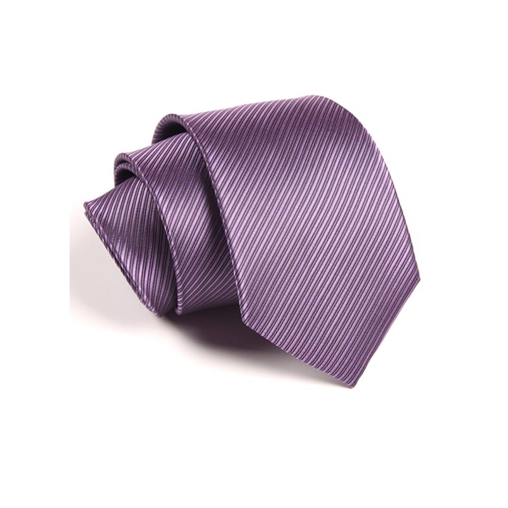 拉福   防水領帶8cm寬版領帶拉鍊領帶(紫)