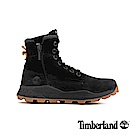 Timberland 男款黑色磨砂革側拉鏈靴|A228P