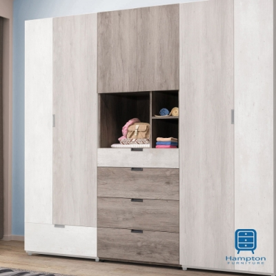 漢妮Hampton瓦爾克2.5尺四抽衣櫥-75x58.5x202cm