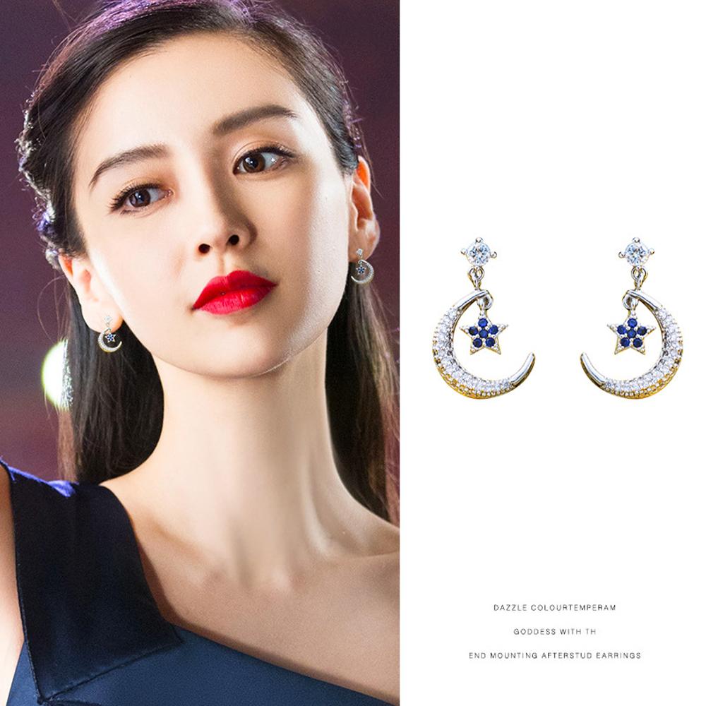 梨花HaNA 無耳洞韓國9月之舞鋯鑽耳環夾式