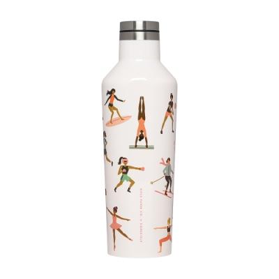CORKCICLE酷仕客 RIFLE PAPER系列三層真空易口瓶470ml-運動女孩