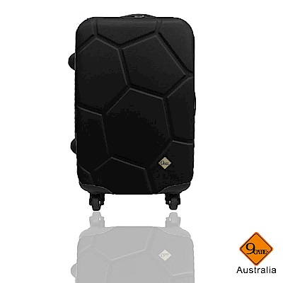 Gate9 足球系列經典24吋 輕硬殼旅行箱行李箱-黑色