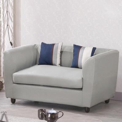 H&D 蘇姍雙座灰色布沙發