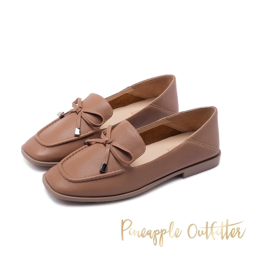 Pineapple Outfitter MAKAYLA 清新氣質蝴蝶結樂福鞋-卡其色