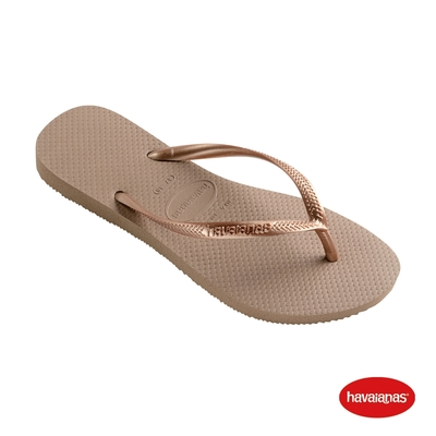 Havaianas哈瓦仕 拖鞋 夾腳拖鞋 巴西 女鞋 玫瑰金 4000030-3581W Slim