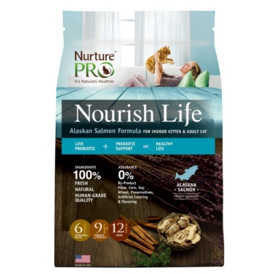 【Nurture PRO】天然密碼 阿拉斯加鮭魚/室內幼貓&成貓 12.5lb/5.7kg