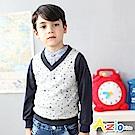 Azio Kids 背心 滿版星星印花造型V領背心(灰)