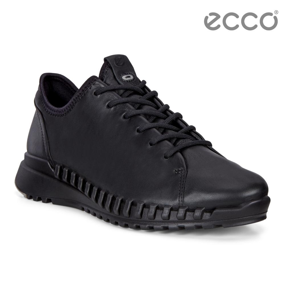 ECCO ZIPFLEX W 酷飛運動單色戶外休閒鞋 女鞋黑色