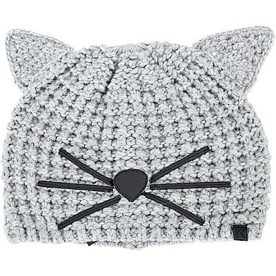 KARL LAGERFELD Choupette 貓咪造型粗針織毛帽(灰色)