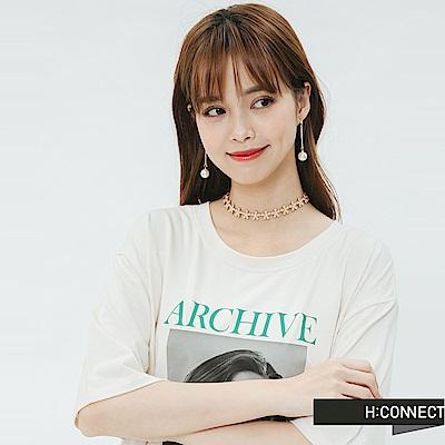 H:CONNECT 韓國品牌 -圓珠垂墜耳環