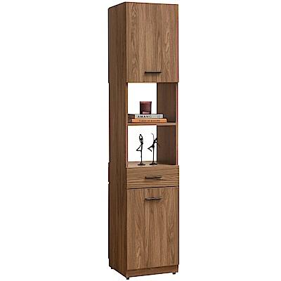 文創集 藍柏蒂1.3尺二門雙面隔間櫃/鞋櫃(二色可選)-40x40x195cm免組