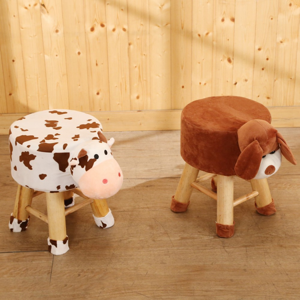 BuyJM動物造型實木腳小椅凳/板凳-免組 @ Y!購物