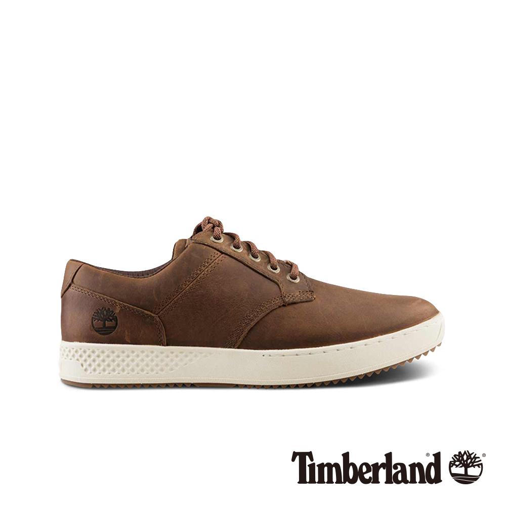 Timberland 男款深咖啡全粒面革休閒鞋 A1S6W