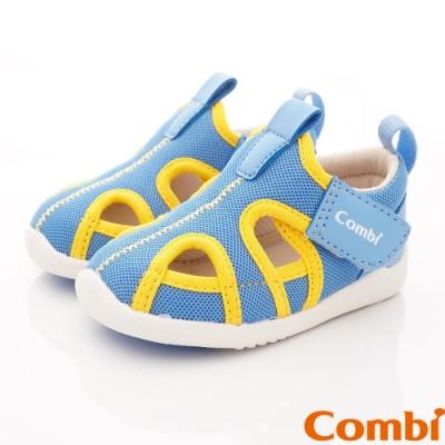 日本Combi童鞋 城市飛行幼兒機能涼鞋-快意藍