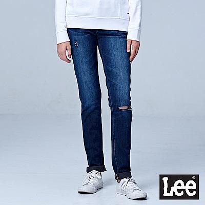 Lee 433高腰合身窄腳牛仔褲/RG-中藍