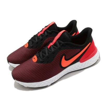 Nike 慢跑鞋 Revolution 5 EXT 運動 男鞋 輕量 透氣 舒適 避震 路跑 健身 球鞋 黑 紅 CZ8591002