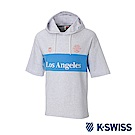 K-SWISS Club Hood T-Shirt短袖連帽上衣-男女-淺灰