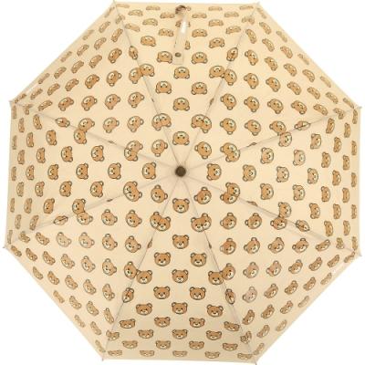 MOSCHINO Teddy Heads 展示品 傘面印花多處油漬 泰迪熊自動摺疊晴雨傘