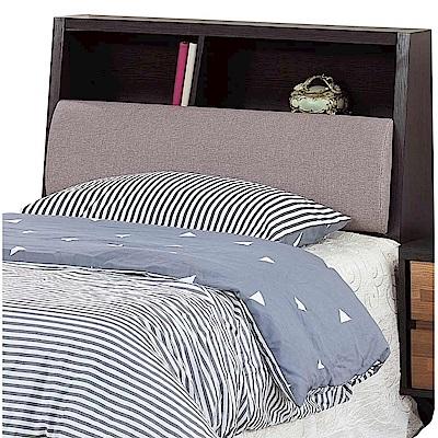 文創集 亞迪時尚3.5尺亞麻布單人床頭箱-106x29x105cm免組