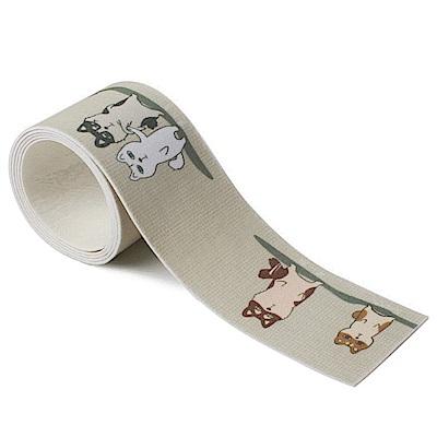 半島良品 韓式長款自黏吸水貼防霉貼8x140cm -柴犬