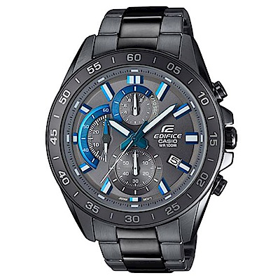 EDIFICE俐落有型賽車儀表板概念設計腕錶(EFV-550GY-8)灰IPX藍針47mm