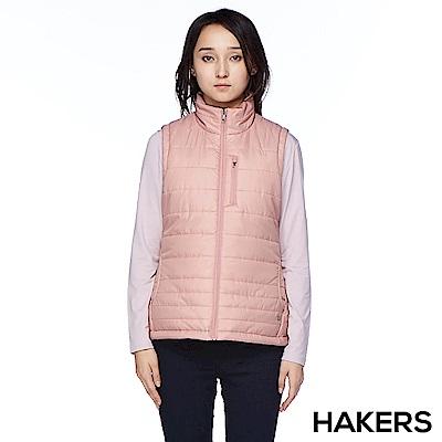 【HAKERS】女款 保暖背心(豆粉)